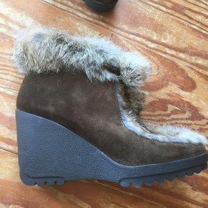 Coach Shoes - EUC Coach Kataya Wedge Boots Women's Size 9.5
